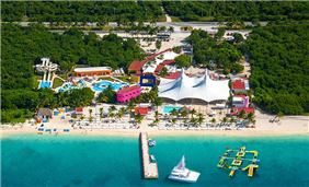 Top view of Playa Mia Grand Beach Park, Cozumel