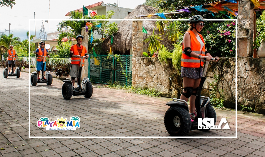Cozumel Tours - Segway Local Village & Playa Mia Beach Break