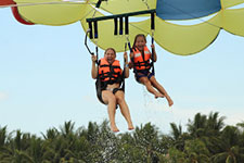 Parasailing at Playa Mia