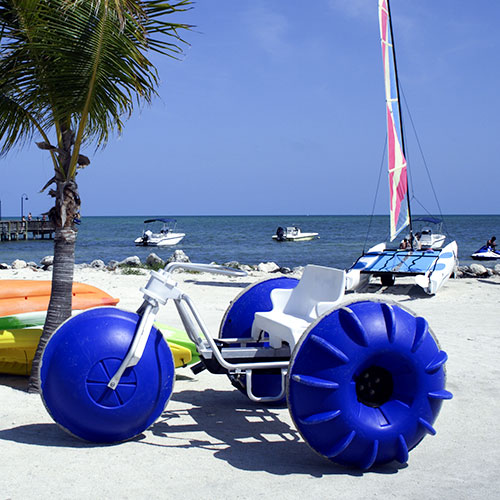 Water Bicycles at Cozumel, Mexico