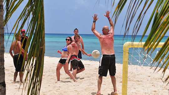 Soccer Court at Cozumel, Mexico
