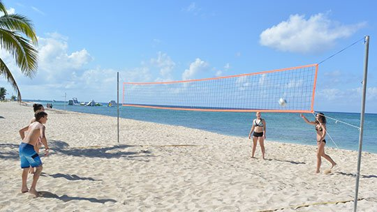 Volleyball Court at Cozumel, Mexico