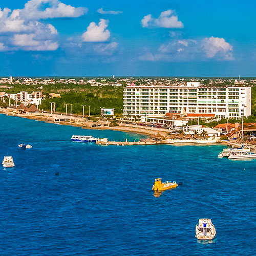 From Cruises and Piers​ to Playa Mia Grand Beach Park, Cozumel