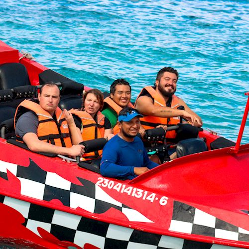 Thriller Jet Boat Adventure at Cozumel, Mexico